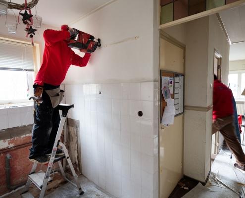 Renovatiewerkzaamheden in bewoonde toestand