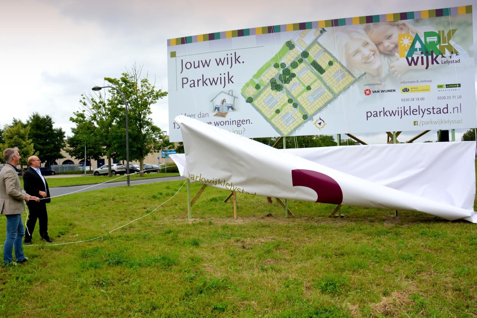 Onthulling van het bouw van Parkwijk