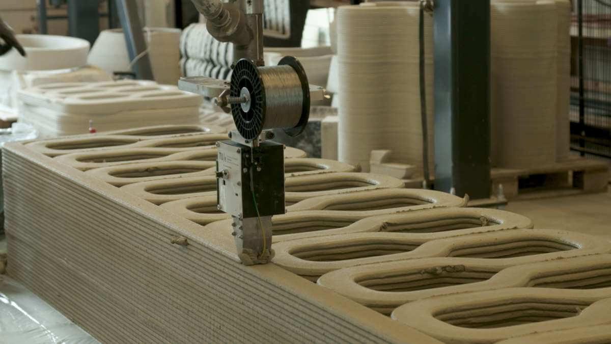 Eerste 3D-geprinte woningen van beton worden gemaakt