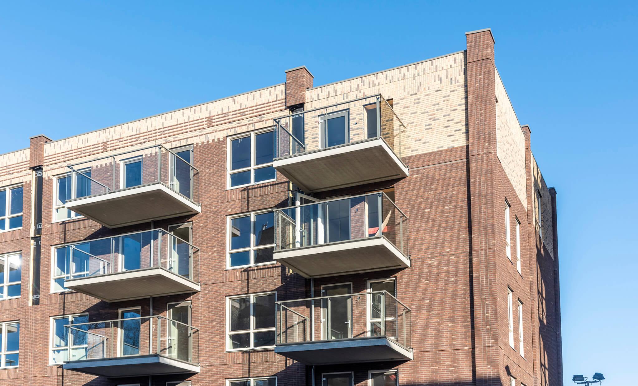 Detailfoto lager appartementencomplex Mariskwartier