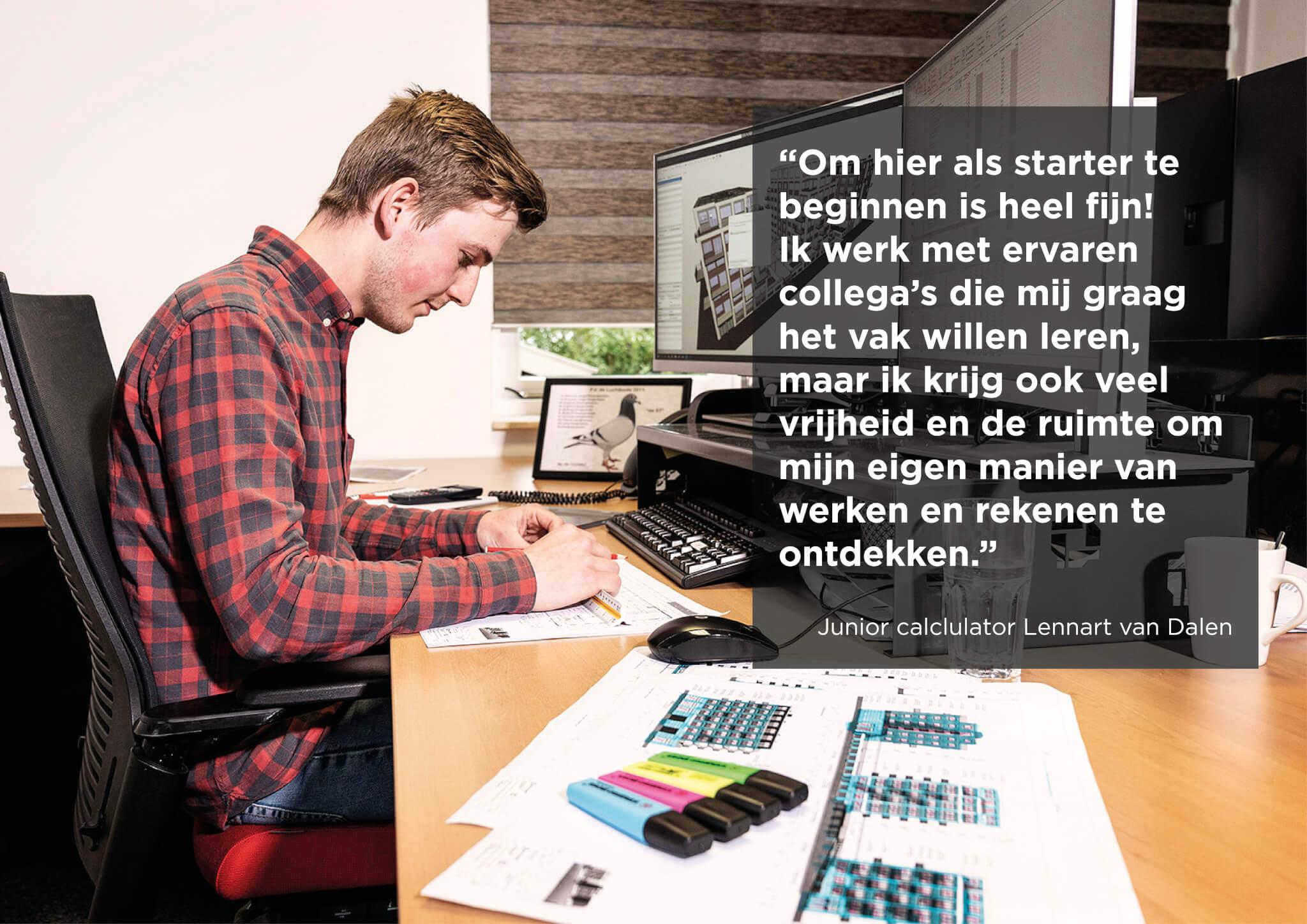 Lennart van Dalen starter junior calculator Van Wijnen