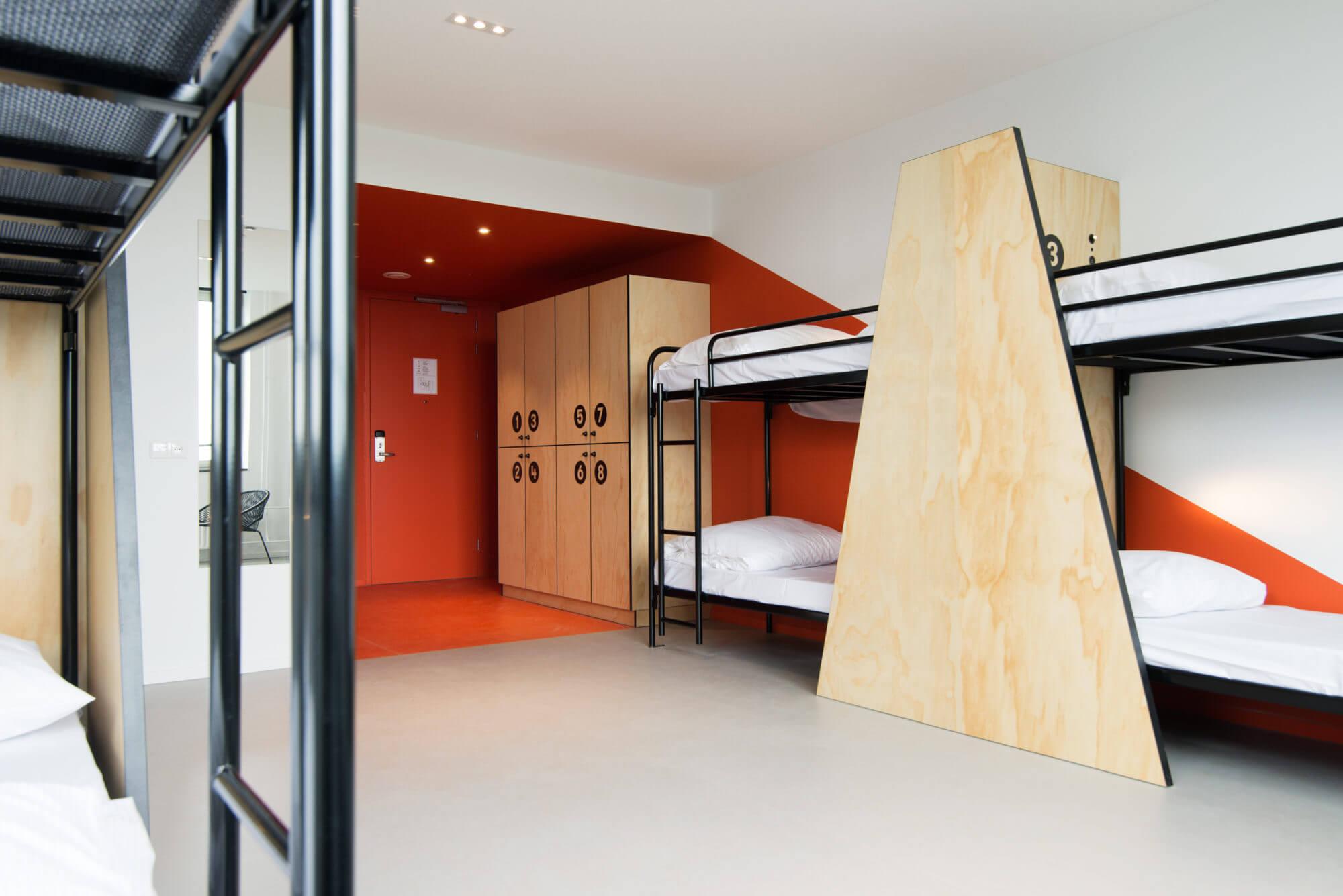Hostel kamer Hotel Via Amsterdam