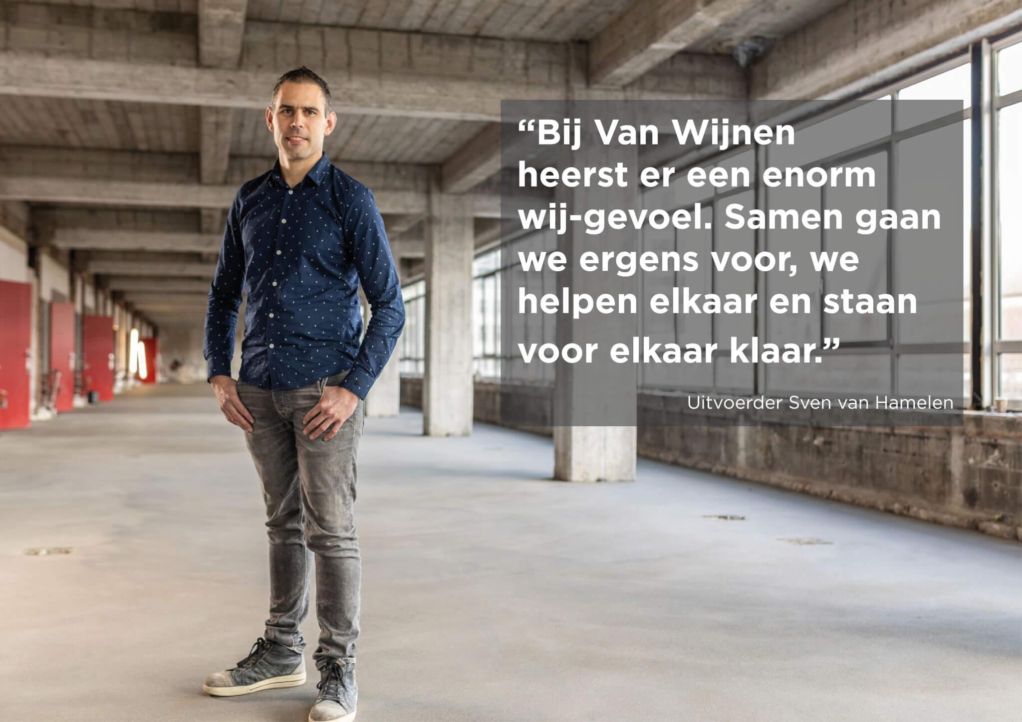 Uitvoerder Sven van Hamelen in WTC Rotterdam