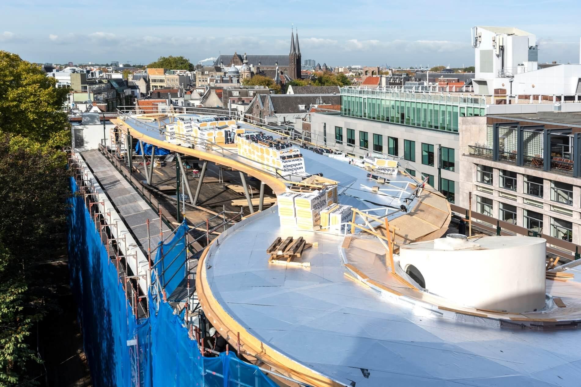 Bijzondere dakconstructie - realisatie in volle gang