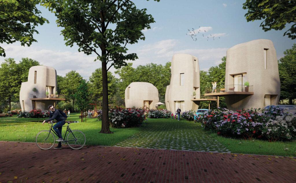 Wonen Eindhoven project Milestone nieuwbouw woningen 3D betonprinten exterieur