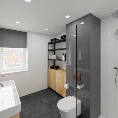 AI geïndustrialiseerde badkamer